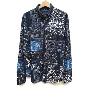RL Floral Bandana Knit Oxford Button Down Shirt
